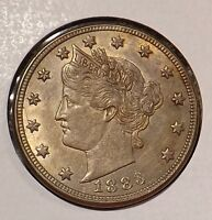 1883 5C NO CENTS LIBERTY NICKEL RAW HIGH GRADE 1ST YR GREAT COIN FAST SHIP 2