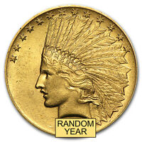 $10 INDIAN GOLD EAGLE AU  RANDOM YEAR    SKU 4026
