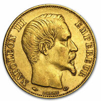 FRANCE GOLD 20 FRANCS NAPOLEON III AVG CIRC   SKU 44326