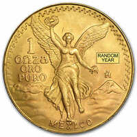MEXICO 1 OZ GOLD ONZA &/OR LIBERTAD BU  RANDOM YEAR    SKU 25504