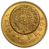 1918 MEXICO GOLD 20 PESOS AU   SKU 27733