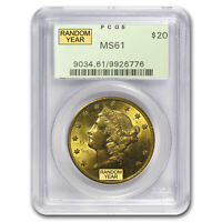 $20 LIBERTY GOLD DOUBLE EAGLE MS 61 PCGS  1800S S MINT    SKU 64609