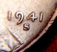 1941-S/S LINCOLN WHEAT CENT S/S RPM REPUNCHED MINTMARK CHERRYPICKERS VARIETY
