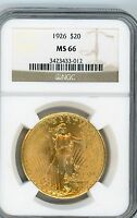 1926 ST GAUDENS SUPERB GEM NGC MS 66  GEM GEM GEM