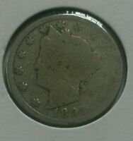1893 UNITED STATES V NICKEL 5C COIN
