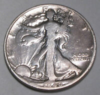 1940 S  LIBERTY WALKING SILVER HALF DOLLAR -  COIN WITH FAIR DETAILS