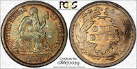 1875 10C F 105 RPD LIBERTY SEATED DIME PCGS MS64 CAC   BEAUTIFUL TONE   TOP POP
