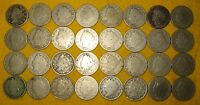[32] LIBERTY 'V' NICKELS DATED 1891-1903 LOT