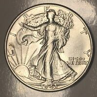 AU 1943-D WALKING LIBERTY HALF DOLLAR - 50C - US 90 SILVER COIN LOT 254