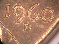 1960 D LINCOLN CENT DDO 003 ANACS MS 65 RED TRIPLED DIE OBVERSE 1 30 01