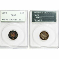 1898 BARBER DIME 10 CENTS PCGS PR63 HOUSED IN A FIRST GENERATION HOLDER