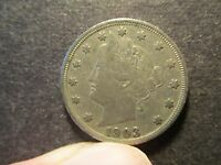 1903 5C LIBERTY NICKEL, CIRCULATED, NO I, RIM DING