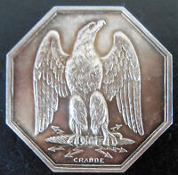 FRANCE FOUNDED 1843 SPEADED WING EAGLE  SILVER BY CRABBE VERY