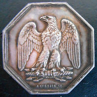 FRANCE FOUNDED 1843 SPEADED WING EAGLE  SILVER BY GERBIER  VERY