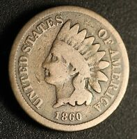 1860 INDIAN HEAD CENT POINTED BUST ONLY 1,000,000 MINTED