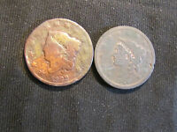 LOT OF 2 LARGE CENTS   1829 & 1838
