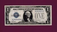2 RUNS NOTES FANCY 12020220 19 FR.1600  $1 1928  SILVER CERTIFICATE FUNNY BACK