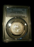 1857 O 50C LIBERTY SEATED HALF DOLLAR SHARP AU PCGS CERTIFIED