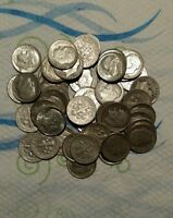 1946 1962 FULL ROLL 50 ROOSEVELT DIMES   MIXED DATES   NOT PICKED THROUGH