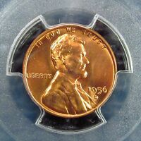 1956 D     LINCOLN CENT    PCGS    CERTIFIED       MS 66  RED     30615164  6A