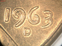 MS 64 RED 1963 D LINCOLN CENT DDO 001 FS 01 1963D 101 DOUBLED DIE OBVERSE