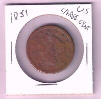 1851 UNITED STATES LARGE CENT BRAIDED HAIR NICE CIRCULATED
