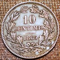 LUXEMBOURG . 10 CENTIMES 1865 . WILLIAM III