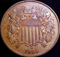 1865 TWO CENT PIECE 2C  BU  CIVIL WAR YEAR COIN SHARP DETAILS JE06