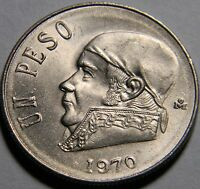 MEXICO 1970 1 PESO ADDITIONAL COMBINED COINS SHIP FREE
