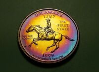 TONED 1999 S CLAD PROOF DELAWARE STATE QUARTER  W21741