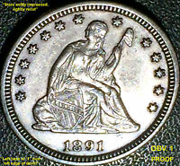 1891 LIBERTY SEATED QUARTER   PROOF