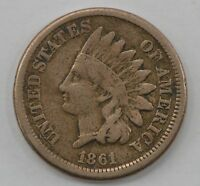 1861 INDIAN HEAD PENNY/CENT Q41