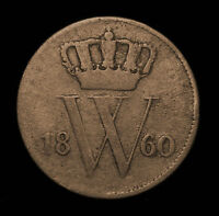 1860 NETHERLANDS 1 CENT   KM100   CIRCULATED M223