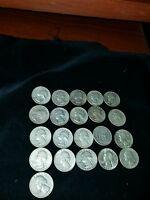 1964 D WASHINGTON SILVER  21 QUARTERS
