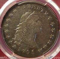 1795 PCGS EARLY DOLLAR VF25 BB25 FLOWING HAIR 3 LEAVES 5 DAY RETURN POLICY