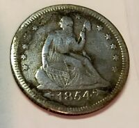 1854 O LIBERTY SEATED QUARTER DOLLAR HUGE O