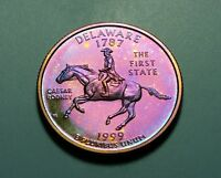 TONED 1999 S CLAD PROOF DELAWARE STATE QUARTER  W21782