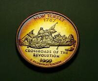 TONED 1999 S CLAD PROOF NEW JERSEY STATE QUARTER  W21742