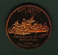 TONED 1999 S CLAD PROOF NEW JERSEY STATE QUARTER  SC198