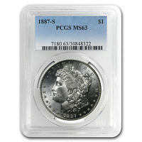 1887-S MORGAN DOLLAR MINT STATE 63 PCGS - SKU 11345