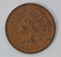 1873 INDIAN HEAD CLOSED 3 DOUBLE DIE OBV. PENNY/ CENT G17