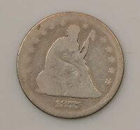 1877 CC LIBERTY SEATED QUARTER DOLLAR VARIETY 4  CARSON CITY G26
