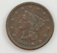 1841 BRAIDED HAIR LIBERTY HEAD SMALL DATE LARGE CENT G95