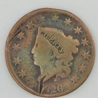 1826 MATRON HEAD LARGE CENT SCRATCHES ON OBVERSE Z31