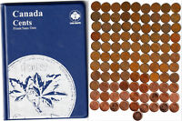 1920 2012 CANADA 100 X 1 PENNIES IN UNISAFE ALBUM MANY  VARIETIES NO DOUBLE