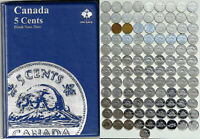 1922 2019 CANADA 108 X 5 NICKELS IN UNISAFE ALBUM   ALL YEARS EXCEPT 1925 1926
