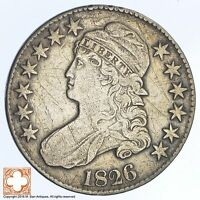 1826 CAPPED BUSTED HALF DOLLAR XB74