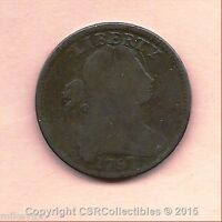 DRAPED BUST LARGE CENT - 1797 W-STEMS - KM22