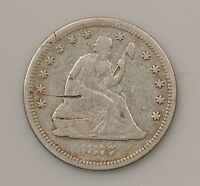 1877 LIBERTY SEATED QUARTER DOLLAR VARIETY 4 SCRATCHES ON OBVERSE G28