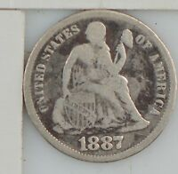 1887 LIBERTY SEATED DIME Z88